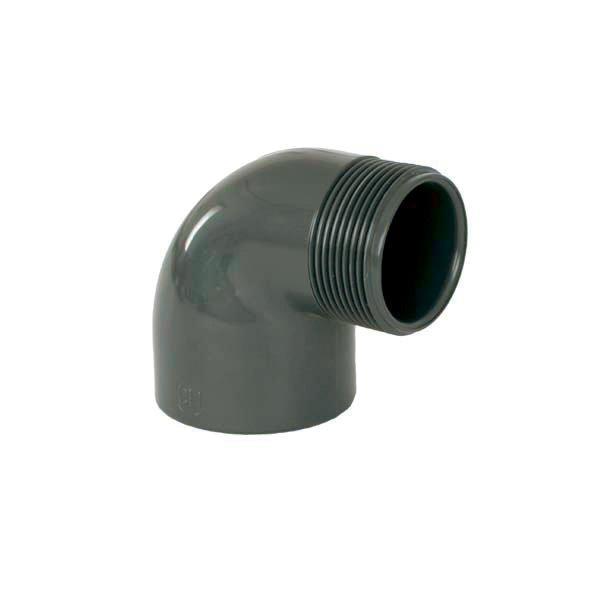 """PVC tvarovka - Úhel 90° 50 x 1 1/2"""" ext."""