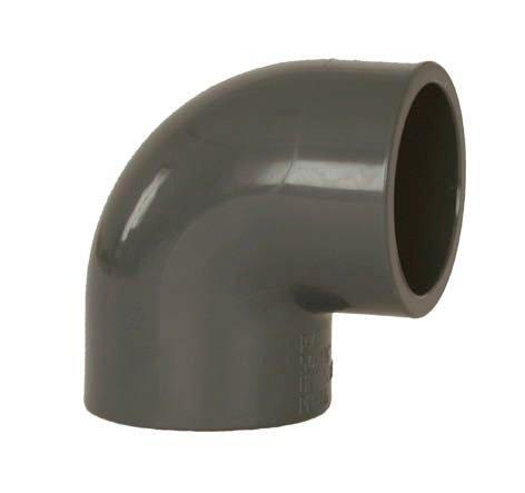 PVC tvarovka - Úhel 90° 75 mm