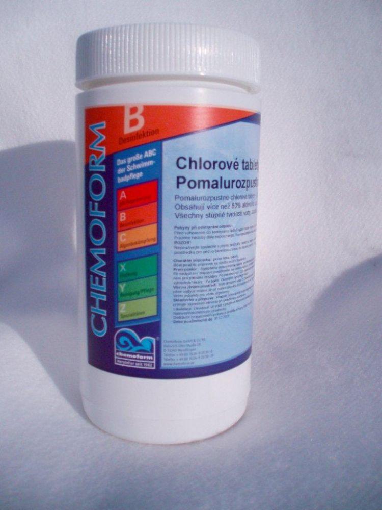 Chlórové tablety pomalurozpustné 200 g - maxi - 1 kg