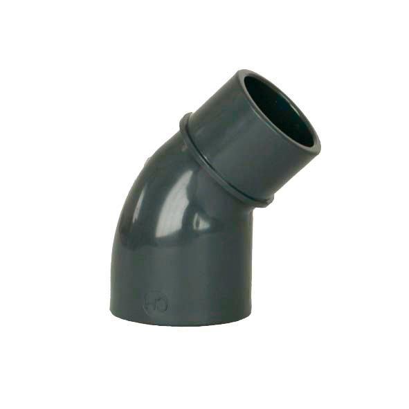 PVC tvarovka - Úhel 45° 50 int. x 50 ext.