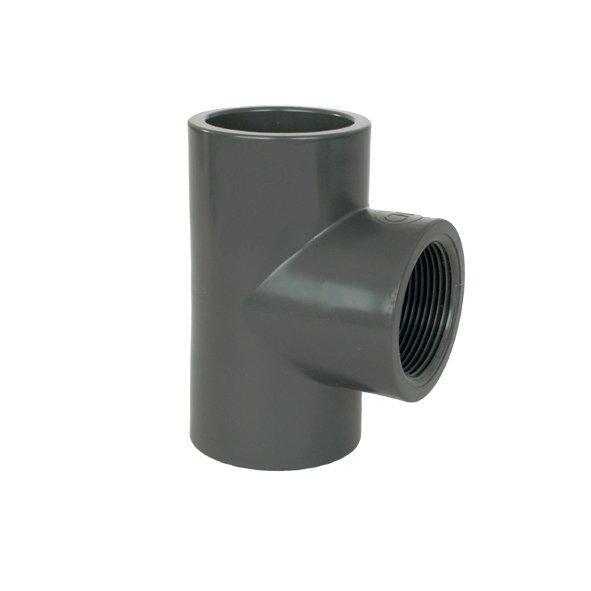 "PVC tvarovka - T-kus 90° 63 x 1/2"" int."