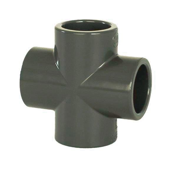 PVC tvarovka - Kříž 25 mm