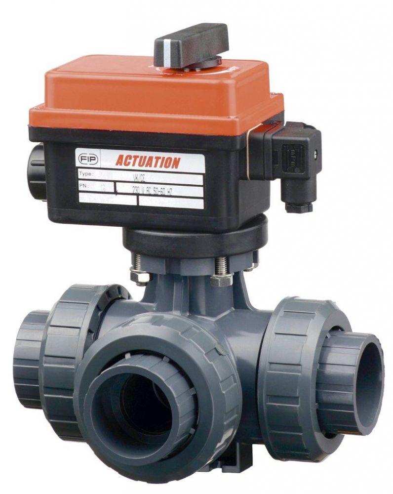 Kulový el. třícestný ventil 50 mm, 230 V, FIP