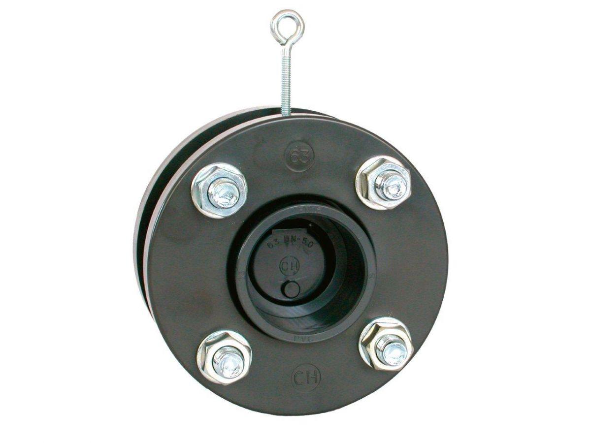 Zpětná klapka s přírubami a s manžetami 90 mm