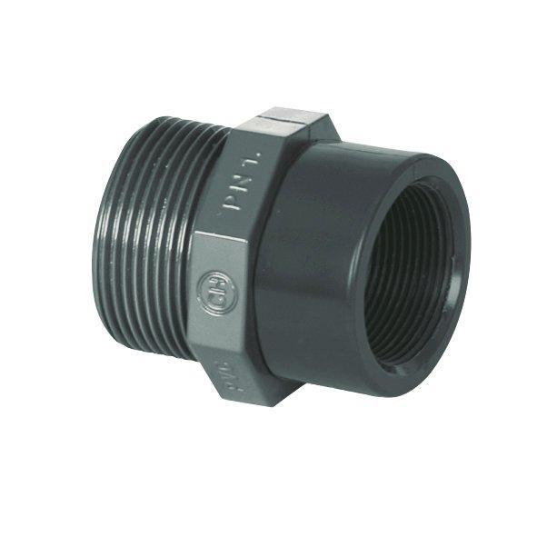 "PVC tvarovka - Redukce 1 1/2"" ext. x 1"" int."