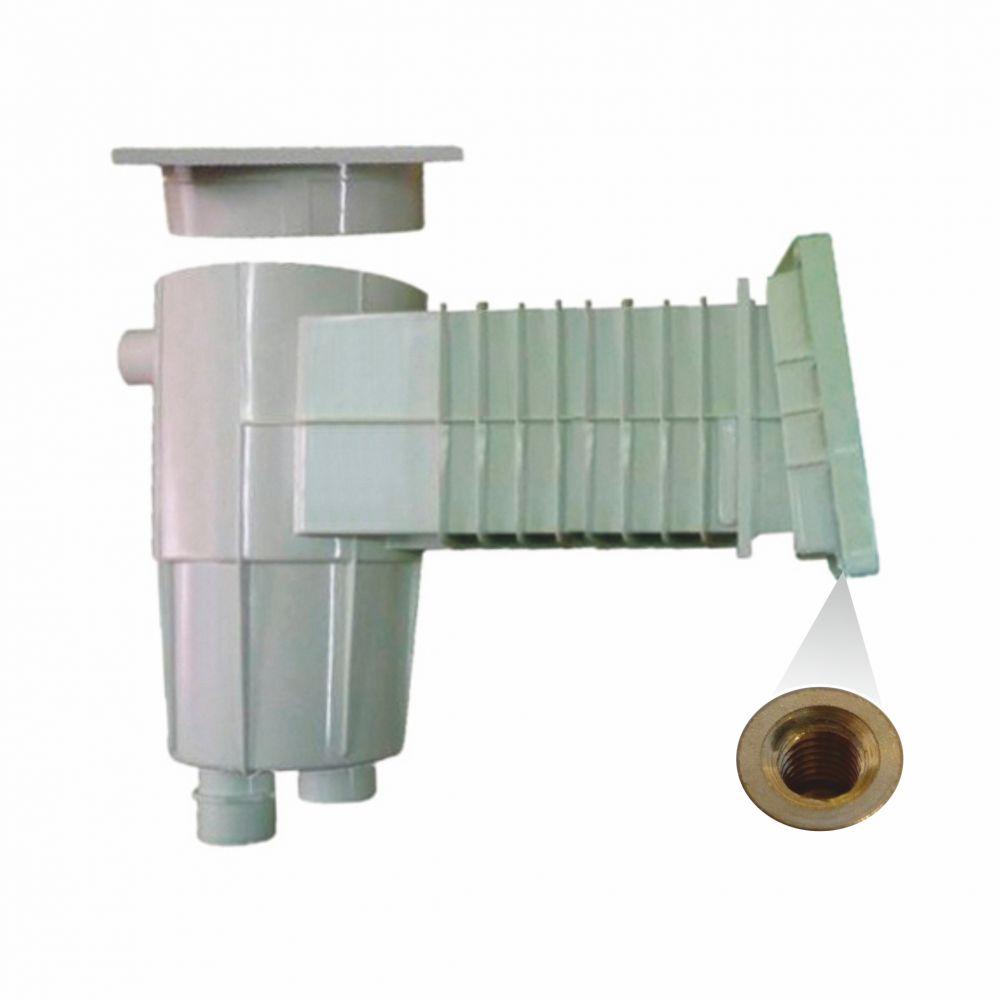 Skimmer 17,5 l s úkosem 6°, standardní hrdlo - prodloužené, mosazné zástřiky