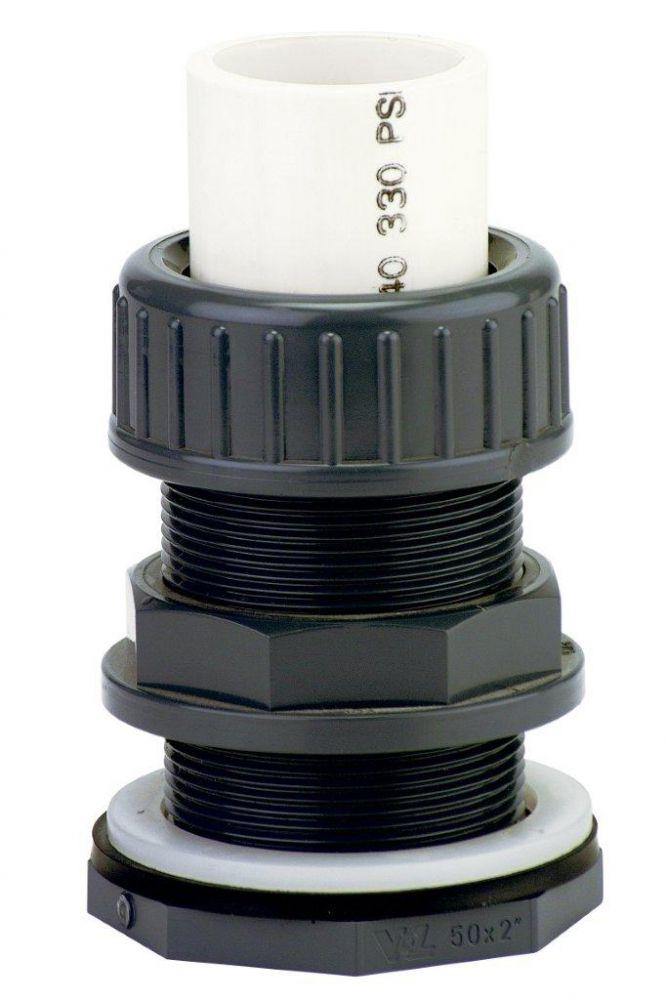 "PVC tvarovka - Průchodka stahovací 63 x 2 1/2"" ext."