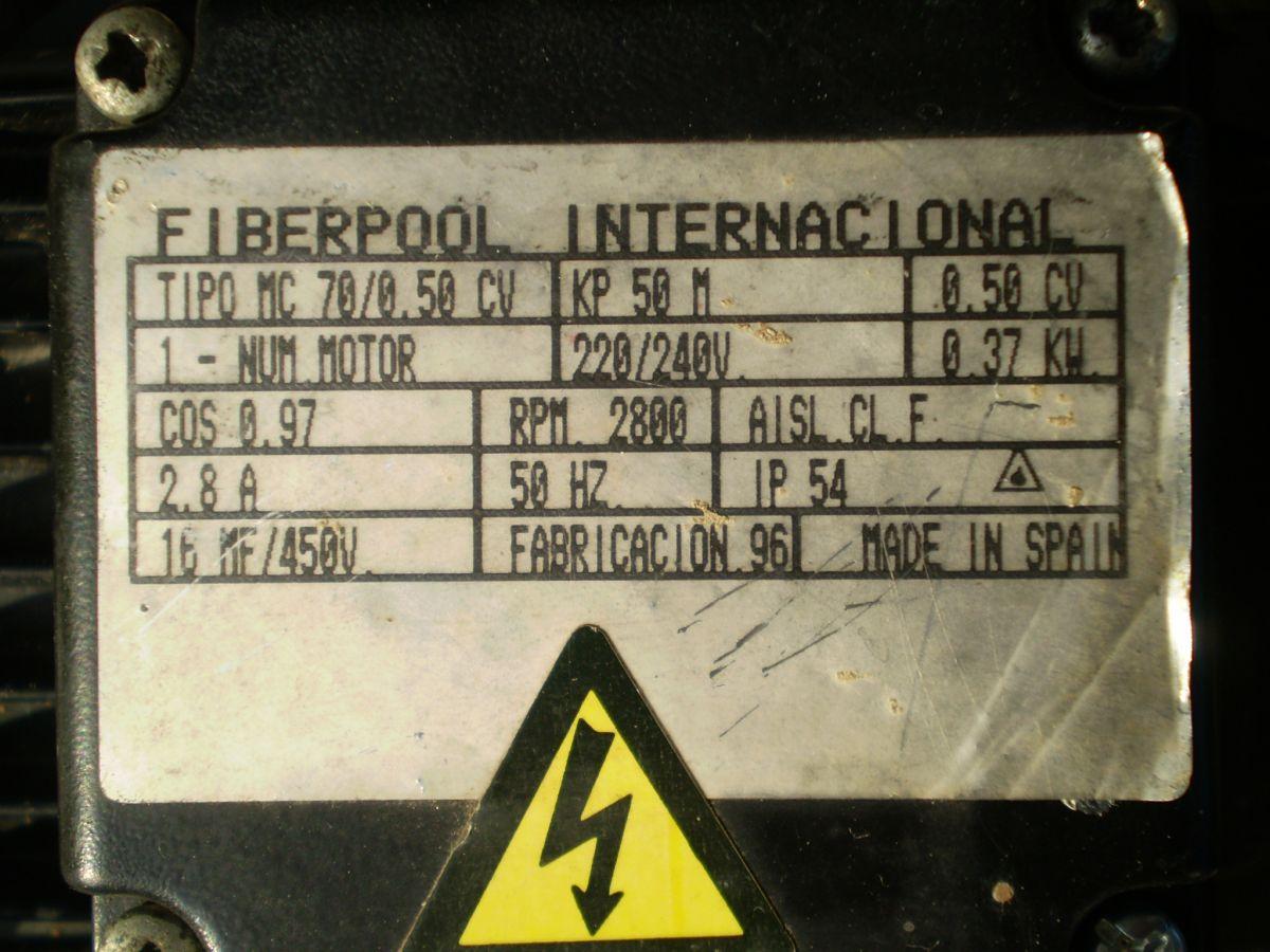 Čerpadlo Kripsol/Fiberpool KP50M - 230V,14 m3/h, 0,37 kW.
