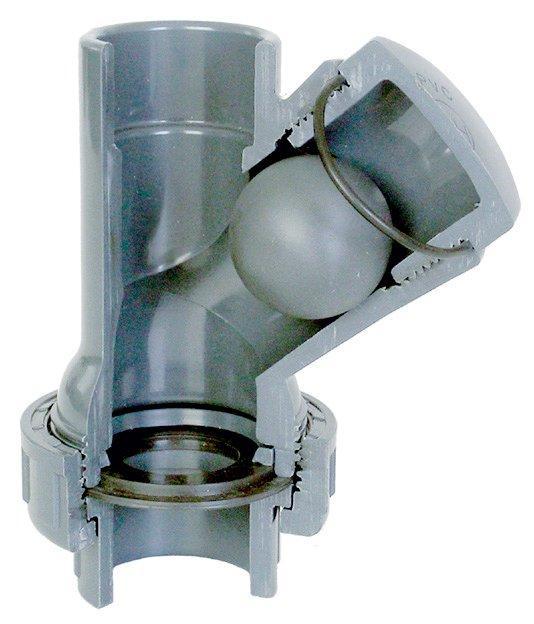 Tvarovka - Kulový zpětný ventil Y 63 mm