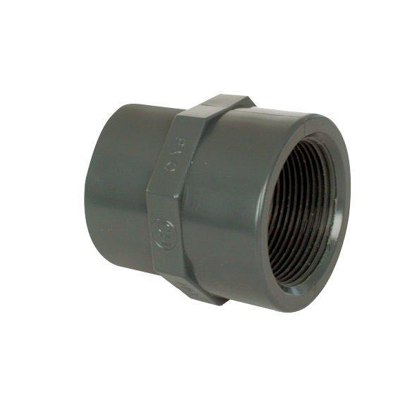 """PVC tvarovka - Mufna přechod. red. 25--20 x 3/4"""" int."""