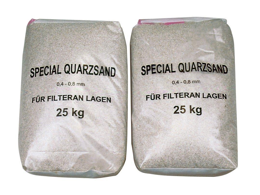 Filtrační písek - frakce 0,6--1,2 mm -- baleno po 25 kg.