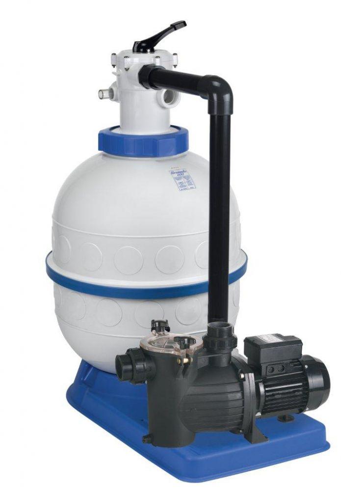 Filtrační zařízení - Granada KIT 400, 4 m3/h, 230 V, 6-ti cest. top-ventil, čerp. Preva 25