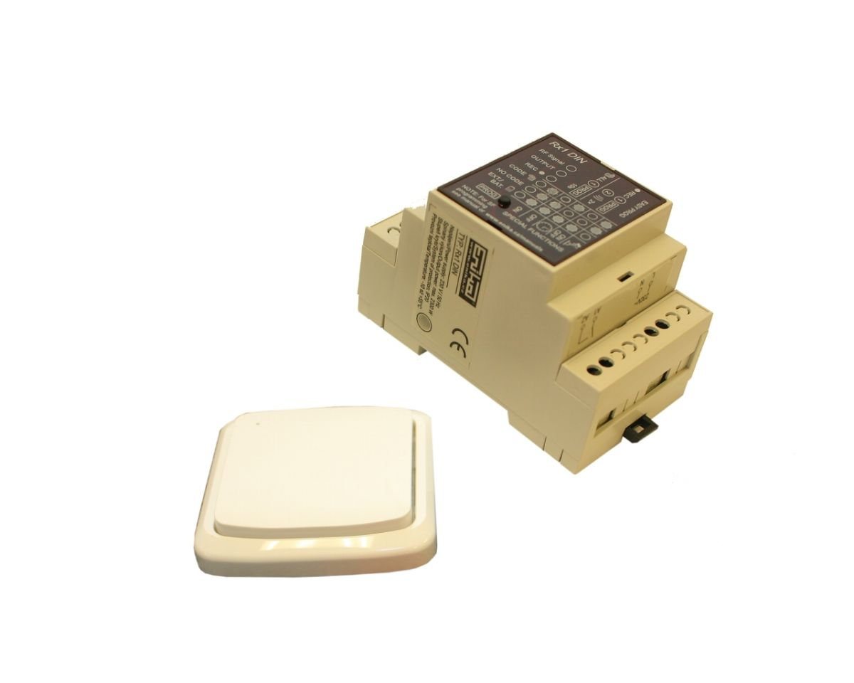 Dálkové spínání jedno-kanálové (tj. jednoho zařízení) pevný vysílač