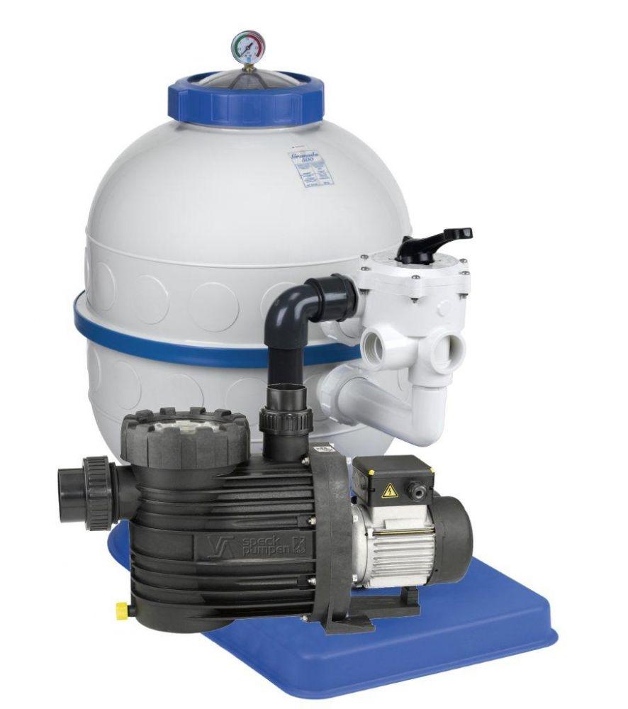 Filtrační zařízení - Granada KIT 500, 8 m3/h, 230V, 6-ti cest. boč. ventil, čerp. Bettar Top 8