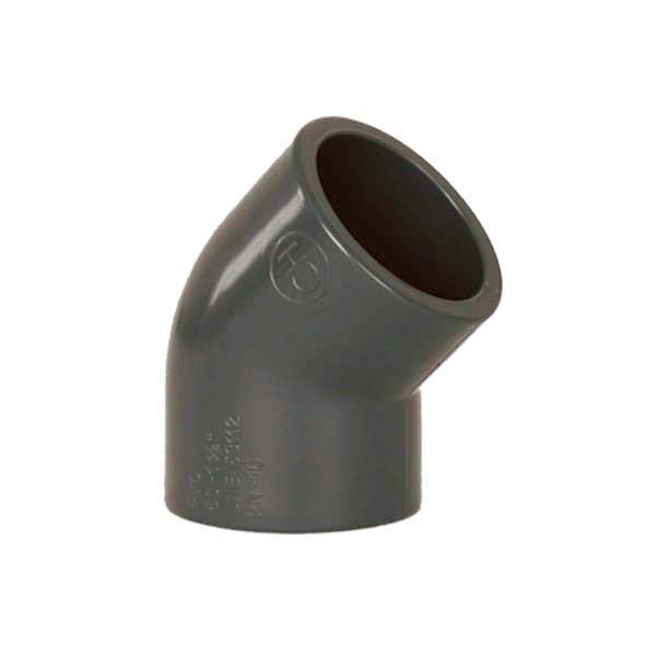 PVC tvarovka - Úhel 45° 20 mm